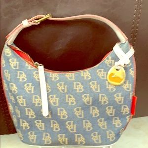Denim canvas Dooney & Bourke handbag